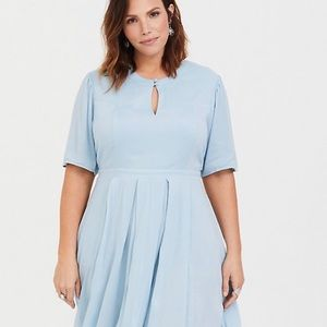 OUTLANDER BLUE CLAIRE SKATER DRESS
